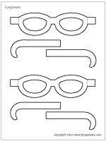 Step 1 Paper Eyeglasses craft