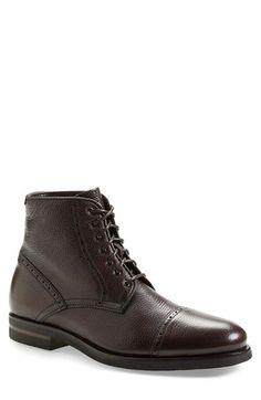 Aquatalia 'Carter' Weatherproof Cap Toe Boot (Men)