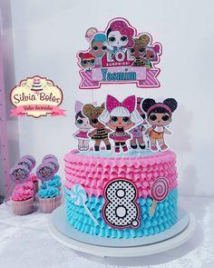 L.O.L SURPRISE! 🥰❤ Queridinhas das meninas ❤ Não deixe para última hora, faça já sua encomenda!  Wp Doll Birthday Cake, Funny Birthday Cakes, Girls Birthday Party Themes, Lol Doll Cake, Resep Cake, Surprise Cake, Doll Party, Lol Dolls, Occasion Cakes