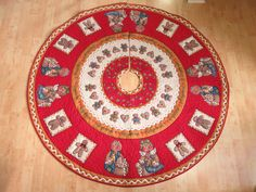 I love this one!!!  Christmas Tree Skirt Quilt Gingerbreads 184 by QuiltinWaYnE, $155.00