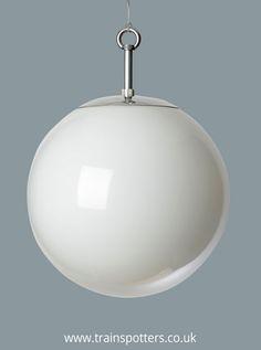 The Opaline Globe Pendant Industrial Lighting, Pendant Lighting, Globe Pendant Light, Lighting Design, Lighting Ideas, Glass Lights, Ceiling Lights, Opaline, Glass Globe