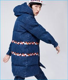 A denim parka is one of the casual standouts from Kenzo's H&M collaboration.