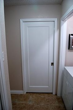 How-to for pocket door. This is what I want to do for all the bedroom closets.