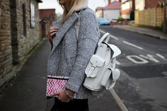 Grafea white leather rucksack and caseable ipad case by charlie26021987,  www.grafea.co.uk