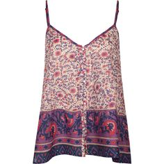 BILLABONG Tallows Womens Cami (266.820 IDR) ❤ liked on Polyvore featuring tops, shirts, tank tops, tanks, purple combo, cotton camisole, purple cami, purple camisole, cotton cami and billabong
