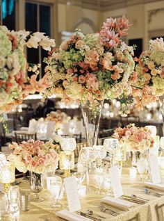 tall centerpieces | Trent Bailey #wedding