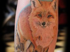 Fox tattoo, I would like this realistic in black and white on my forearm, one day... I will do this