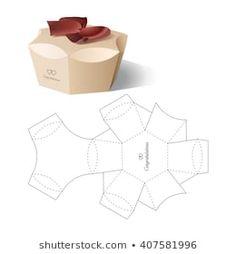 Images, photos et images vectorielles de stock de box template Cardboard Box Crafts, Paper Crafts Origami, Paper Crafting, Diy Gift Box, Diy Box, Gift Boxes, Paper Box Template, Box Templates, Origami Tutorial
