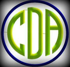 Circle Monogram Embroidery Design