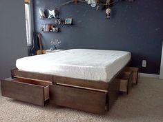 . Platform Bed with Drawers