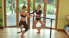 Sleek 15 min barre workout  inc intro - not too hard, but does make you work