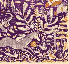 Purple illustration by Melissa Castrillon