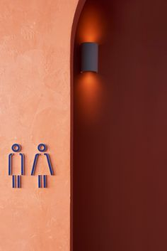 Studio Esteta's design approach for Fonda Bondi celebrates the fun, bright and youthful brand personality of the Melbourne-based Mexican street food eatery. Toilet Signage, Bathroom Signage, Web Banner Design, Wayfinding Signage, Signage Design, Hotel Signage, Restaurant Signage, Environmental Graphics, Environmental Design