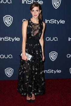 El Globo de Oro a la más original es para: Emma Watson y su pantalón Dior