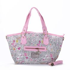 ##BestSeller The Hottest Legacy In Signature Jacquard Medium Pink Grey Totes EWO Offers You High Quality And Fast Delivery! !!!!!