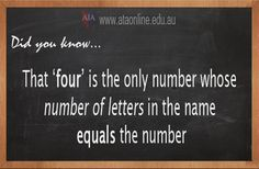 TESOL ESL [ English Facts ] The number FOUR. #EnglishFacts