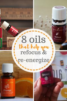 Need help refocusing and re-energizing? Try these essential oils! Essential Uses, Natural Living, Uses for Essential Oils, Essential Oil Uses, Natural Remedies, Home Remedies, Frankincense Oil, Bergamot Oil, Young Living, Orange Oil, Vetiver Oil