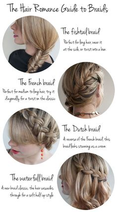 4 Braids to Try: Fishtail, French, Dutch, & Waterfall