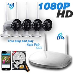 Ipccam Video Security System4 Channel 1080P HD Wireless Security CCTV Surveillance Systems(WIFI NVR Kits)-4pcs 1080P Outdoor BulletP2P65ft Night Vision 1TB Hard Drive  Pre-installed Review http://ift.tt/2po4DGJ