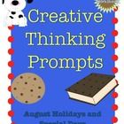 Did you know that August is Family Fun Month and August 3rd is National Mustard Day? Fun creative thinking/discussion/writing prompts for every day in August. Use whole class or small group or as task cards. $
