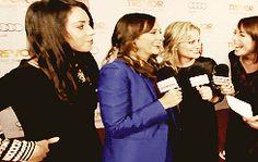 "Best Friends Rashida Jones, Aubrey Plaza And Amy Poehler At ""Trevor Live"""