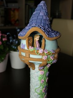 "How To Make a ""Tangled"" Tower Cake (Rapunzel)"