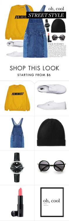 """Street style"" by taissasilva ❤ liked on Polyvore featuring Vans, Current/Elliott, Madeleine Thompson, Movado, Anja and Laura Geller"