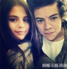 Selena gomez and harry styles.