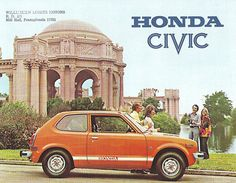1974 Honda CiViC. My first car! An orange pumpkin, bought it from my grandparents in 1988.  #Honda #HondaCivic #HondaCars
