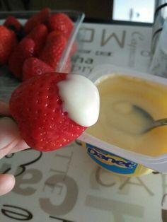 Fresas con natillas