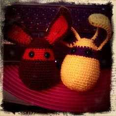 1 rabbit + 1 rabbit = 2 friends #crochet