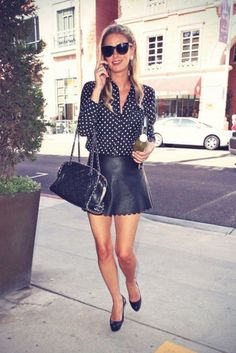 Semi-formal-leather-skirt