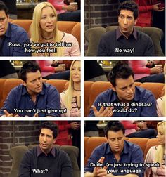 HAHA I love Joey. He's awesome! FRIENDS