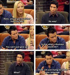 HAHA I love Joey. He's awesome! FRIENDS