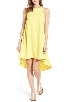 Ruffled High/Low Shift Dress (Regular & Petite)