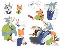 Anime Crossover, Fandom Crossover, Cartoon As Anime, Cartoon Games, Anime Art, Manga Anime, Corpse Party, Zootopia Fanart, Pinturas Disney