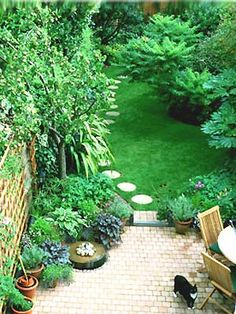 Small gardens on pinterest small gardens small garden for Small back garden ideas