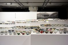 kei harada exhibits 1,200 rice bowls from the town of hasami