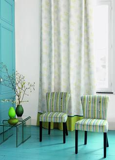 Collection OCCITANE : Chaleureux, convivial, poétique, fauteuils, rideaux