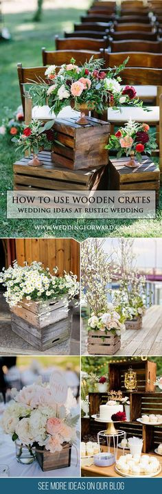 How To Use Wooden Crates Wedding Ideas At Rustic Weddings ❤ One of the budget-friendly element of country wedding is wooden crates. In our guide of wooden crates wedding ideas, we gathered the most pinned pictures. See more: http://www.weddingforward.com/wooden-crates-wedding-ideas/ #weddings #rustic