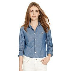 Custom-Fit Chambray Shirt - Polo Ralph Lauren Shirts & Blouses - RalphLauren.com