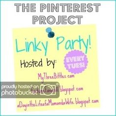 Linking up with Melissa at A Day In the Life of a Mom and a Wife for The Pinterest Project. Head on over and share your pinterest inspi...