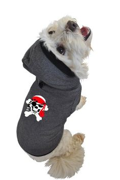Ruff Ruff and Meow Dog Hoodie Skull and Crossbones Black Medium -- Read more  at the image link.