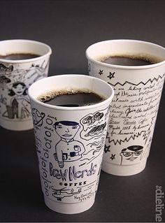 Cool idea for a independent coffee shop/café... #coffeecup PD