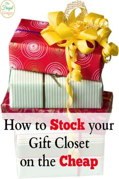 Save time and money by stocking up your gift closet. These are the best places where you can get gifts for next to nothing!