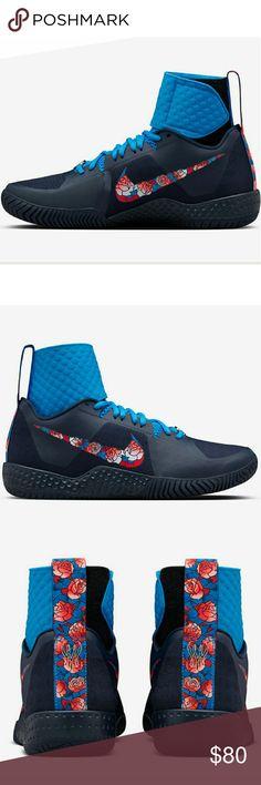 new styles aaca3 6038f SERENA WILLIAMS NIKECOURT FLARE SERENA WILLIAMS NIKECOURT FLARE 👉FLORAL👈  Color Photo BlueObsidianWhite Nike Shoes Sneakers