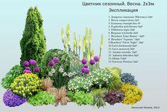 Схема цветник