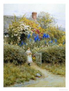 At the Cottage Gate Giclee Print by Helen Allingham - at AllPosters.com.au