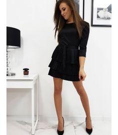 Prekladané šaty Kiara čierne Black, Dresses, Fashion, Vestidos, Moda, Black People, Fashion Styles, Dress, Fashion Illustrations