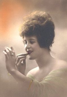 In the 1920s it was the deep dark red shades were by far the most coveted, drawing cupid's bow shapes over their lips, an ode to the era's popular silent films. Lipstick was now officially regarded as a symbol of womanhood and maturity.